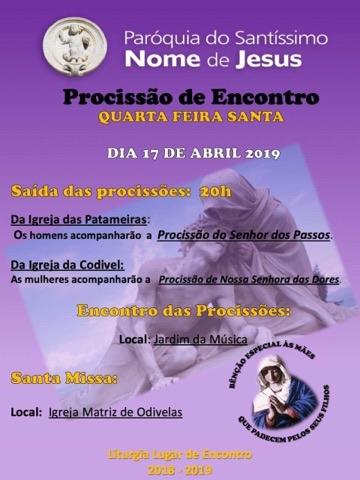 cartaz procissão do encontro 2019
