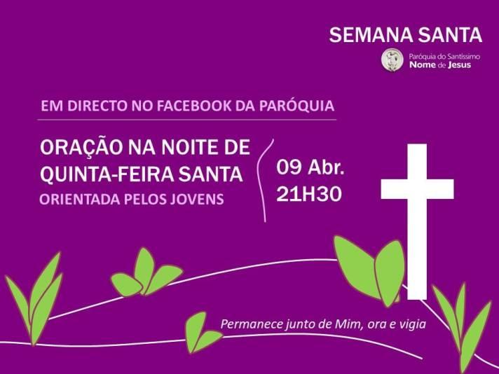 Oração da noite de Quinta-Feira Santa 2020